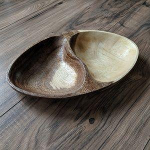 Minimalist Wooden 2 Compartment Bowl